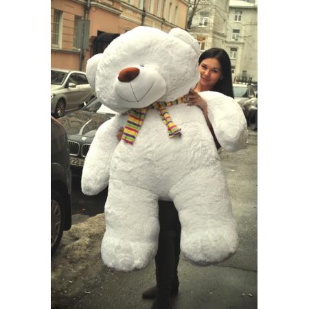 Большой плюшевый мишка Ричард 170 см (белый)