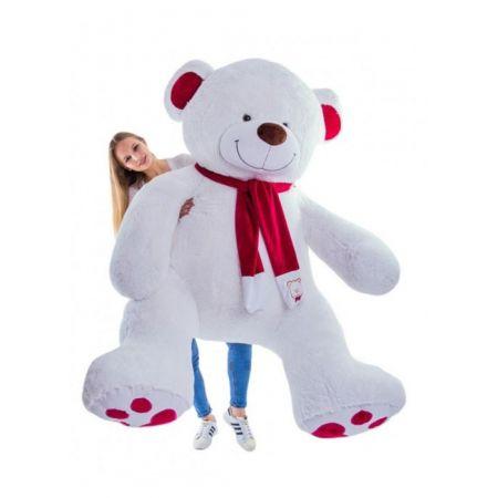 Большой плюшевый медведь Рико 240 см (молочный)