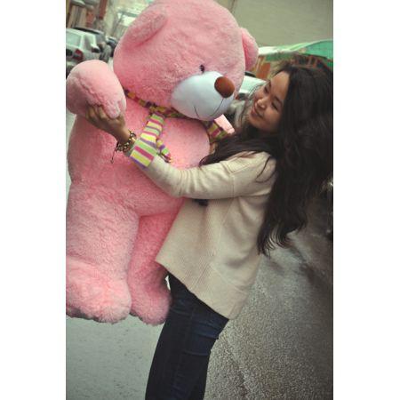 Большой плюшевый мишка Валентин 110 см (розовый)