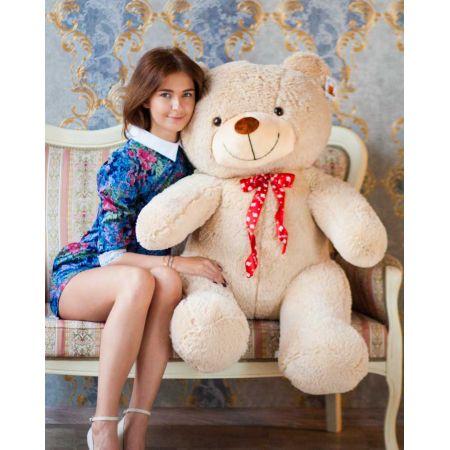 Плюшевый медведь Тарас 140 см (бежевый)