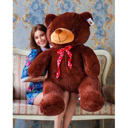 Мягкий медведь Тарас 140 см (бурый)