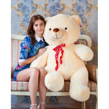 Плюшевый медведь Тарас 140 см (чайная роза)