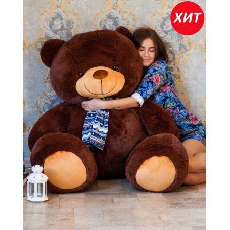 Большой плюшевый медведь Тарас 170 см (бурый)