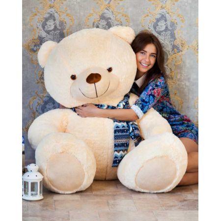 Мягкий плюшевый медведь Тарас 170 см (чайная роза)