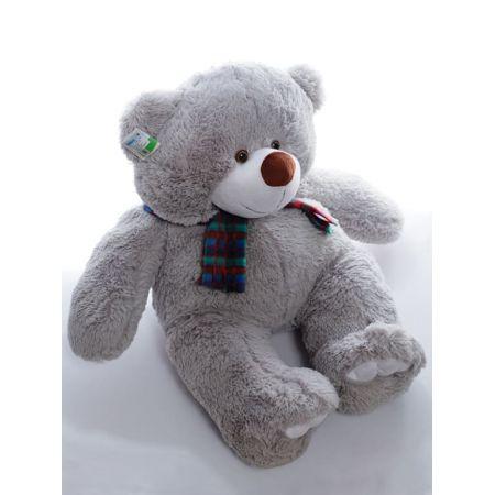 Большой плюшевый мишка Тёма 70 см (серый)