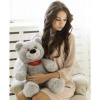 Плюшевый медвежонок Тихон 60 см (серый...