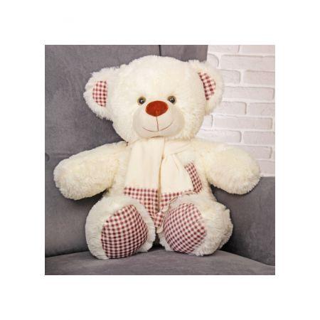 Плюшевый медведь Тонни 120 см (молочный)