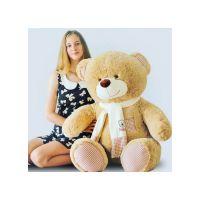 Плюшевый медведь Тонни 120 см (кофейны...