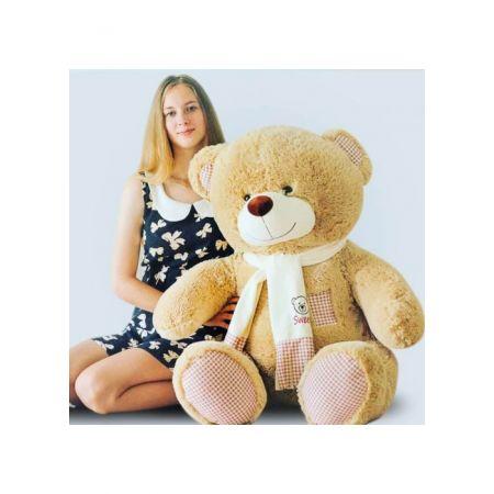 Плюшевый медведь Тонни 120 см (кофейный)